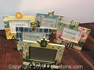 Lot of 6 birthday picture frames