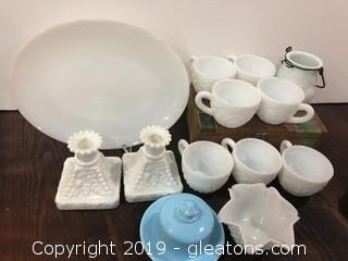 1950's Milk Glass Lot