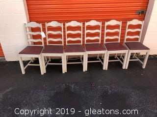 Antique Painted Walnut Kitchen Chairs