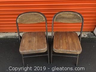 Real Wood Farmhouse Folding Chairs