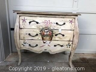 Distressed Hand Painted Bombe Chest