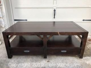 Thomasville Wanderlust Coffee Table With double Side Drawers