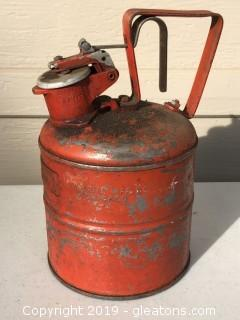 Old Antique Gas Can Chicago