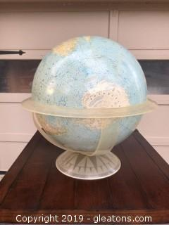 Large 1950's National Geographic World Globe