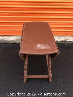 Rare Vintage Painted Childs Drop Leaf Table