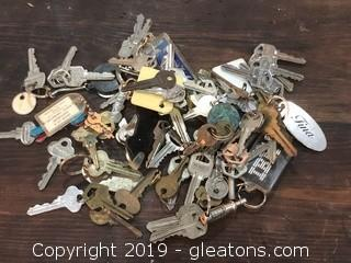 Lot of Old Keys for Crafts