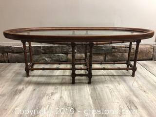 Bamboo Glass Top Coffee Table