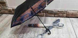 Inverted Reverse Folding, Windproof Umbrellas Set Of 3