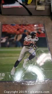 Autographed With Certificate Of Authenticity Notarized Print Photo Of Ferance Mathis Falcons #81