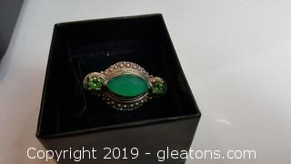 Vintage Ring With Real Gemstones In Stamped Sterling Made In India