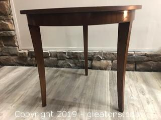 Solid Wood Round Accent Table
