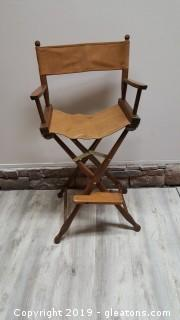 Vintage Gold Medal Mid Century Folding Director Chair