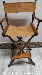 "Vintage ""Gold Medal"" Mid Century Folding Director Chair"