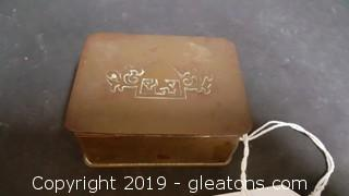 Authentic Silver Crest Bronze Trinket Box