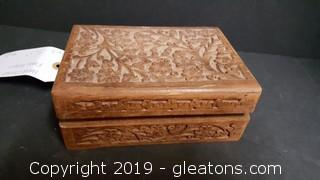 Hand Carved Box Floral Pattern