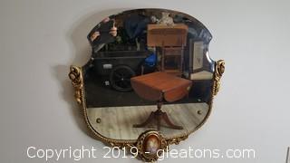 VTG Victorian Style Replica Mirror