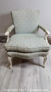 Vintage French Provincial Arm Chair With Down Cushion