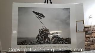 "Unopened ""New"" Flag Raising On Iwo Jima"