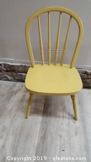 Small Vintage Mini Wood Windsor Child's Chair/Yellow