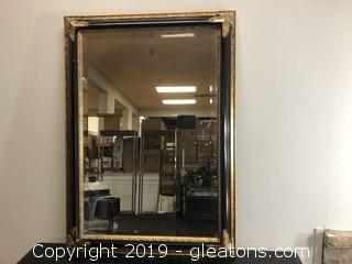 Reproduction Art Deco Hanging Mirror Hangs Both Ways