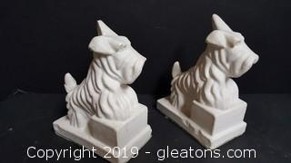 "Vintage ""Scotties"" Dog Book End/Statues"