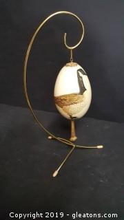 Hand Painted Porcelain Egg By: Doris Creuser