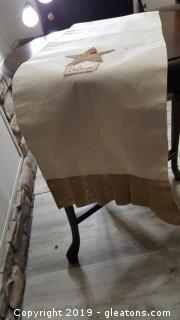Very Nicely Made Burlap/Linen Table Christmas Runner