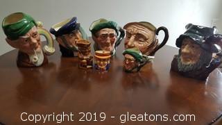 Vintage Collectible Royal Doulton Character Mugs