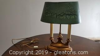 Small Vintage (2) Candle Desk Lamp