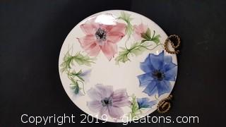 Handmade/Painted Ceramic Signed Hot Plate/Decorative