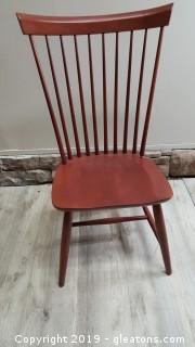 Red Ethan Allen Winsor Chair
