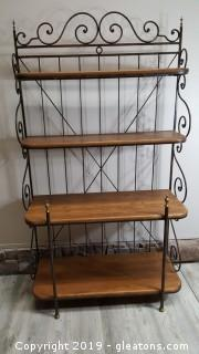 High Quality Farmhouse/Bakers Rack Wood/Metal
