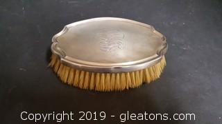 Sterling Monogrammed Vintage Clothes Grooming Brush Stamped