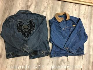 Harley Davidson and Timberland Denim Jackets XL