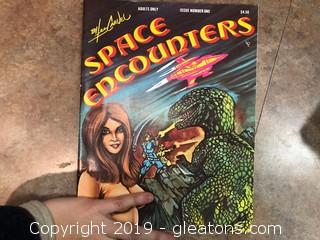 "MINT 1978 Lee Carvel "" Space Encounters"" MATURE COMIC BOOK"