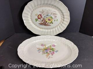 Lot Of 2 Large Serving Dishes