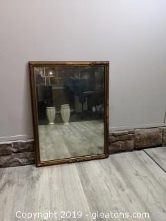 Heavy Framed Mirror Ornate