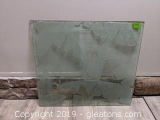 Large Heavy Glass Art Piece