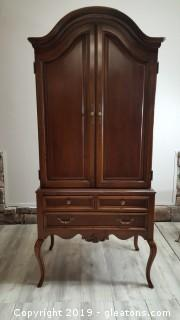 Lexington Pecan Wood Armoire/Wardrobe/French Style Highboy