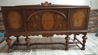 Vintage Burled Veneer (A) English Renaissance