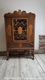 Vintage English Renaissance China Cabinet