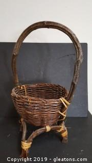 Handmade - Vintage - Mid Century Basket