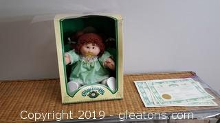 "Original In Box Cabbage Patch Doll With Paper Work Like ""New"""