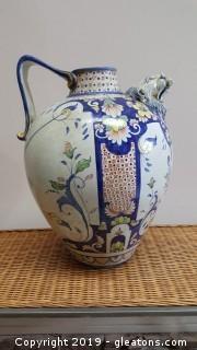 Hand Painted Large Asian Ginger Jar Pot