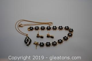 Sapphire Diamond Set