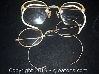 Antique Gold Filled Wire Rimmed Spectacles