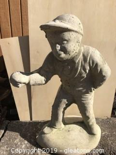 Cement Lawn Jockey