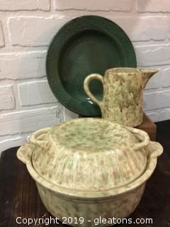 Antique Spongeware and Metal ware