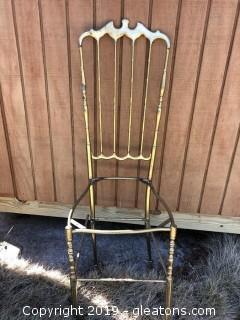Antique Brass Chair Needs Repair