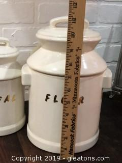 Vintage Lot of 2 Food Canisters